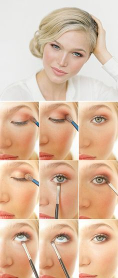 Cute hooded eye makeup!