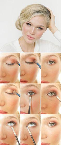 Cute hooded eye makeup! More