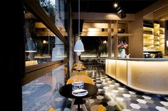 Chic Barcelona Restaurant by Adam Bresnick architects surfaces textural decor Design Blog, Cafe Design, Design Design, Commercial Design, Commercial Interiors, Barcelona Restaurants, Hotel Restaurant, French Bistro, Love Your Home