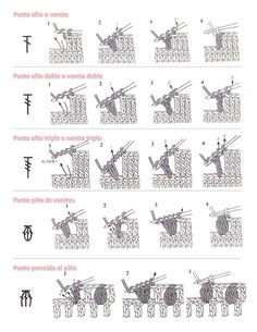 Guia de puntos a crochet - Imagui