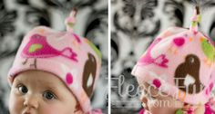 Basic Fleece Hat with Top Knot How To / Tutorial / DIY This easy fleece hat is a cute variation that looks great on babies and kids. In addition to this pattern you will need the Basic Fleece Hat P. Fleece Crafts, Fleece Projects, Baby Sewing Projects, Baby Crafts, Sewing For Kids, Free Sewing, Sewing Diy, Sewing Ideas, Easy Baby Sewing Patterns