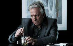 Alan Rickman having Tea