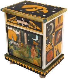 University of Iowa Nightstand Cabinet