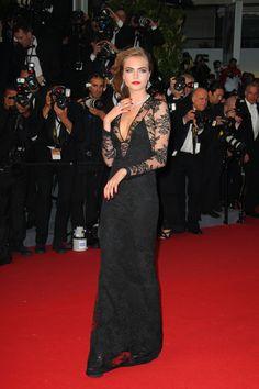 Cara Delevingne in Burberry  Festival de Cannes 2013  http://www.bagborroworsteal.com/designers/burberry