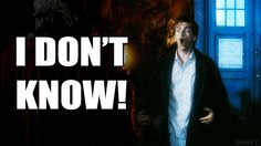 "This was one of my favorite episodes! ""I DONT KNOW!"" Tenth doctor gif <-- The original fish face ladies and gentlemen."