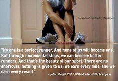 No one's a perfect runner.