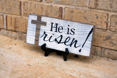 IMAGES HE IS RISEN | He is Risen! - White w/Black Lettering
