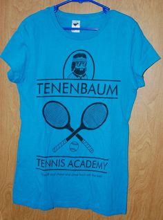 The Royal Tenenbaums TENENBAUM TENNIS ACADEMY t-shirt Ladies SMALL Wes Anderson #TeeFury #GraphicTee