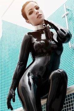 Image result for girls in latex catsuit