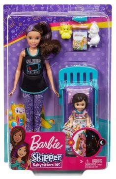 Barbie Doll Set, Barbie Skipper, Mattel, Barbie Toys, Girl Dolls, Disney Princess Dress Up, Barbie Family, Pink Slippers, Toddler Dolls