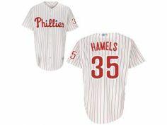 9e52ac147f0 MLB Philadelphia Phillies  35 Colbert Hamels White Red Strip Jersey