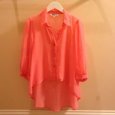 Pink summer shirt Size M. Great condition. Tramp Tops