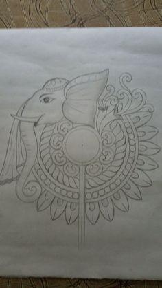 Saree Painting, Kalamkari Painting, Kerala Mural Painting, Indian Art Paintings, Fabric Painting, Fabric Art, Peacock Embroidery Designs, Hand Embroidery Design Patterns, Embroidery Motifs