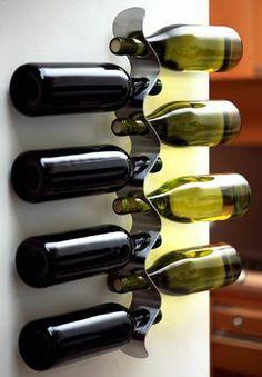 wine rack iron design