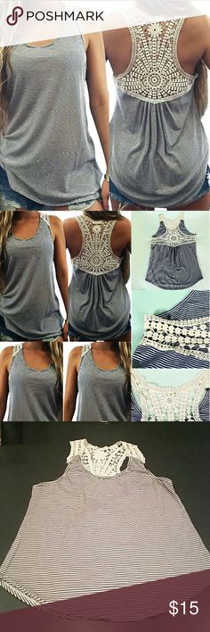 """NWOT Racerback Tank Top New without tags, black & creme racerback tank top. When laying flat, size small measures 24"""" in length, across chest from armpit to armpit is 16.5"""". Size Medium: 25"""" long, 18.5"""" wide. No rips, tears, flaws, or defects. Comes from a smoke free home. Final price unless bundled. No trades, no holds, thank you. Tops Tank Tops"""