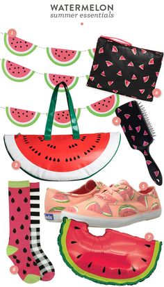 Loving the watermelon trend for summer! How cute are these accessories?