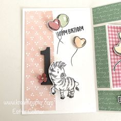 Birthday Cards, Happy Birthday, Animal Cards, Zoo Animals, Stamping Up, Zebras, Kids Cards, Homemade Cards, Stampin Up Cards