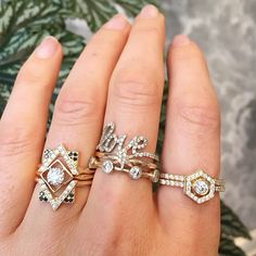 A perfect diamond #ringstack for the weekend  #zoeandmorgan