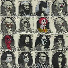 Dollar Bill Art