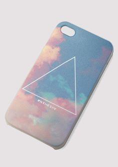 Ciel et triangle Print Cellphone Case