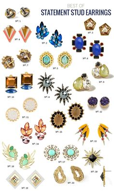 obsessed with Modern Eve's round-up of gorgeous statement studs.  (thanks for including us!)