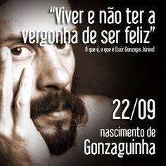 """Gonzaguinha, Filho do gênio Luiz Gonzaga, Gonzaguinha nasceu Luiz Gonzaga Júnior, no Rio de Janeiro, e compôs sua primeira canção aos 14 anos.   Crítico feroz da do golpe de 1964, foi alvo permanente da censura. Com o começo da abertura política, começou compor canções de tom mais romântico, como """"Começaria tudo outra vez"""", """"Explode coração"""", """"O que é o que é"""", entre outras."""