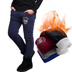 9711e2b23 6 14 T Niños Invierno Bebé Pantalones Leggings Caliente Suave Pantalones de  los niños Espesan Más
