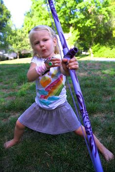 Make your own PVC Bow and Arrows (REALLY SHOOTS) and decorate them with paint and Mod Podge!~Life Sprinkled With Glitter
