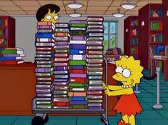 Lisa loves her library!