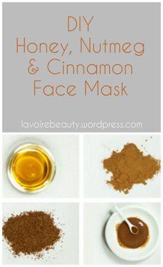 DIY Honey, Nutmeg and Cinnamon Face Mask   Acne Treatment