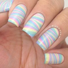It is actually really easy. It is water marbling. If you look on YouTube it has many tutorials. :)
