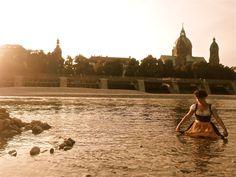 Dirndl in the Isar (Munich)