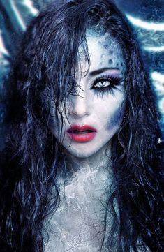 # Makeup 2018 15 Witch Halloween Make-up Looks for Girls and Women 2018 # 15 . - Fairytail looks - halloween schminke Mermaid Fantasy Makeup, Mermaid Makeup, Mermaid Costume Makeup, Dark Fantasy Makeup, Looks Halloween, Halloween Face Makeup, Easy Halloween, Couple Halloween, Halloween 2019