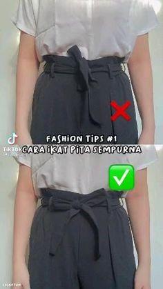 Diy Fashion Videos, Diy Fashion Hacks, Fashion Tips, Diy Clothes Life Hacks, Clothing Hacks, Korean Girl Fashion, Look Fashion, Teen Fashion Outfits, Modest Fashion