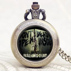 The Walking Dead DONT OPEN DEAD INSIDE Quartz Pocket Watch