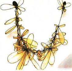 Maria Phillips: Pig gut, steel, thread, beads, silver