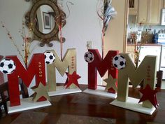Batmitzvah Centerpieces for Megan a soccer player