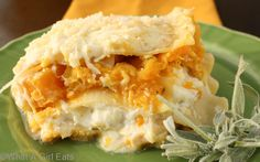 My entree for a vegetarian guest will be Butternut Squash And Sage Lasagna.