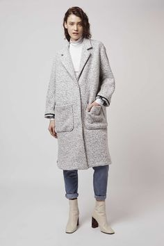 Longline Wool Duster Coat - Topshop