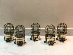 AUTHENTIC NAUTICAL ANTIQUE OLD BRASS ORIGINAL SHIP PASSAGEWAY WISKA LIGHT LOT 5
