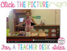 Desk / lesson organization