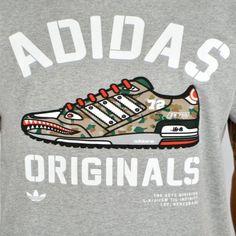 50 x adidas Originals Trefoil Army ZX750 Summer T-Shirts B Grade rrp£30 Only £5.69 each!!