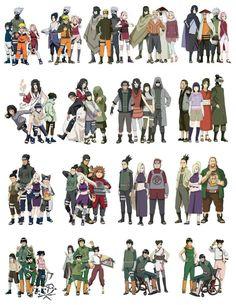 Naruto squads/teams throughout the series until Boruto Anime Naruto, Naruto Shippuden Sasuke, Naruto Kakashi, Naruto Team 7, Naruto Family, Naruto Fan Art, Naruto Comic, Wallpaper Naruto Shippuden, Naruto Cute