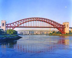 Perhaps the most beautiful New York Bridge is the Hell Gate Bridge, which carries rail traffic over Hell Gate (a straight of the East River) between Queens and the Bronx.