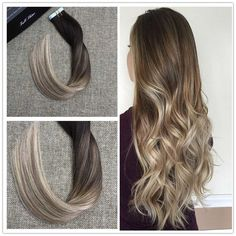 Balayage Tape In Ombre Hair Extensions Human Hair Balayage Tape In Extensions