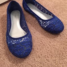 X.APPEAL ROYAL BLUE FLATS These flats were worn 1 time. They look new other than the bottoms. X.APPEAL Shoes Flats & Loafers