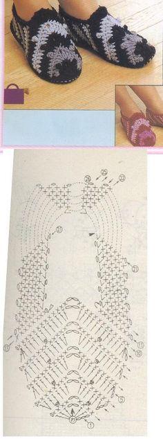 Zapatillas boot crochet pattern by jeanne Crochet Sandals, Crochet Boots, Crochet Gloves, Crochet Slippers, Crochet Diagram, Crochet Chart, Crochet Stitches, Free Crochet, Knitting Patterns