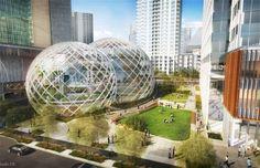Ook Amazon pakt uit met een futuristisch hoofdkantoor.