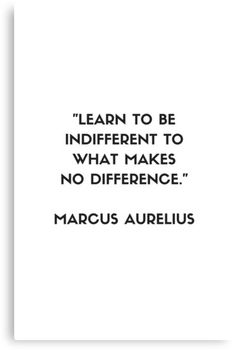 'MARCUS AURELIUS Stoic Philosophy Quote - Learn to be indifferent to what makes no difference' Metal Print by IdeasForArtists Wise Quotes, Great Quotes, Words Quotes, Motivational Quotes, Daily Quotes, Sayings, Unique Quotes, Clever Quotes, Amazing Quotes
