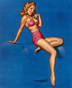 """Earl Moran - """"Marilyn""""  Marilyn Monroe vintage pin-up art"""